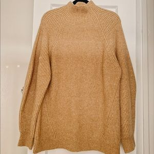 H&M Turtleneck Sweater Tunic in Camel